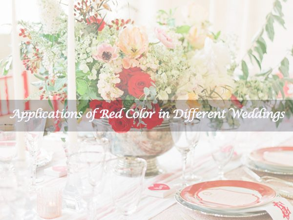 Red Colors in Wedding