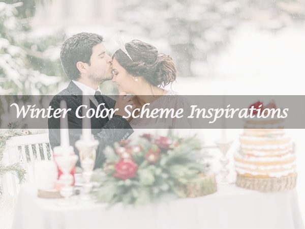 Have You Thought Out Your Winter Wedding Color Scheme?