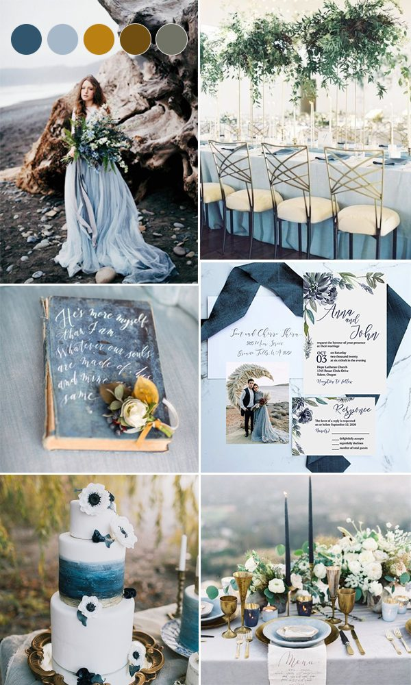 Trending Dark & Moody Hues For Fall & Winter Wedding Color Ideas