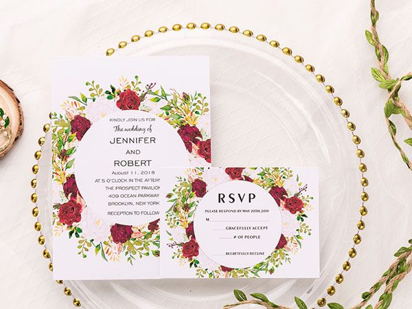 Wedding Invitation Card for Spring