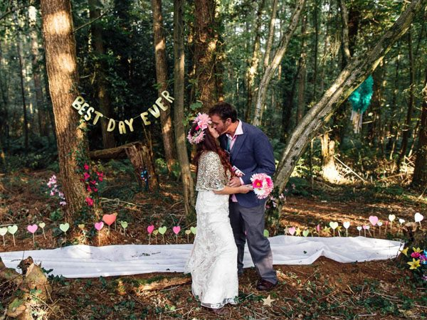 Want a Rustic Woodland Wedding? Look Here