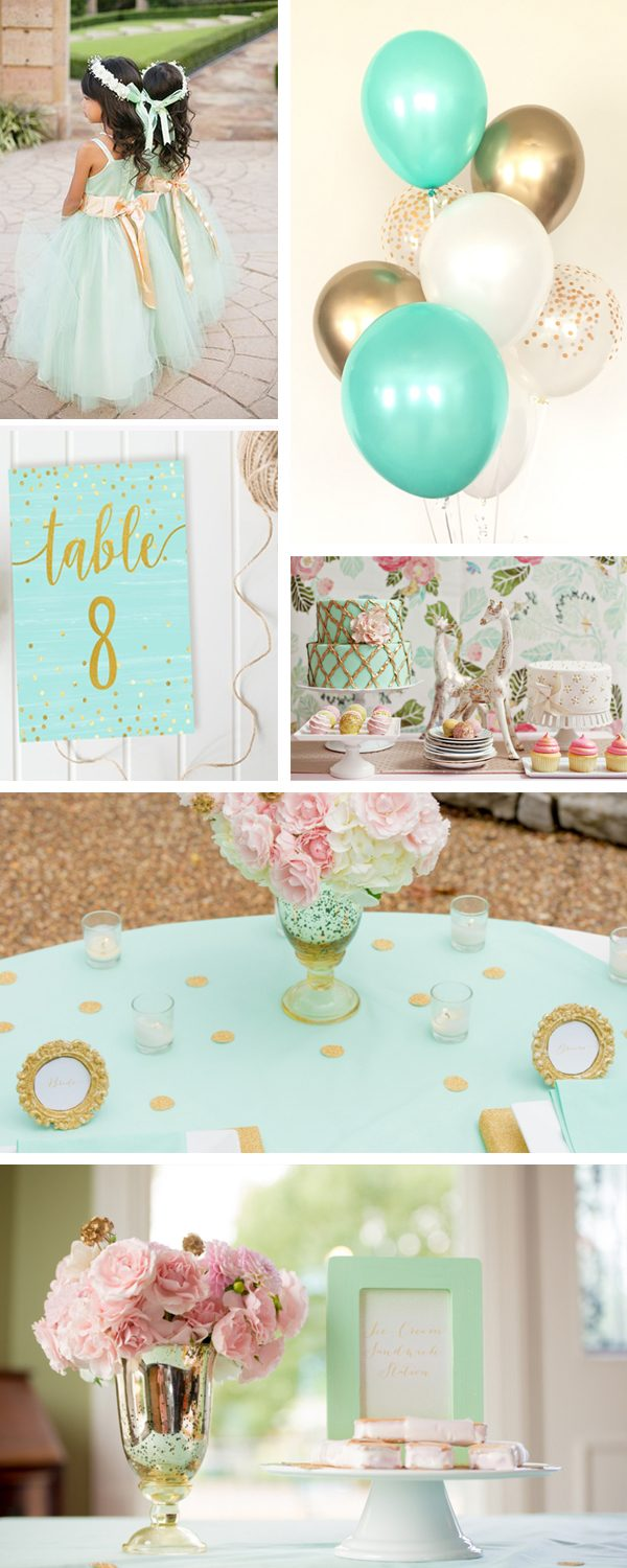 The Best Gold Wedding Colors Combos for 2021: Gold + Mint