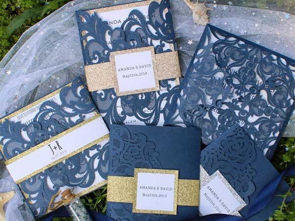 New Arrival Navy Blue Wedding Invites, Help You Build an Unique Wedding