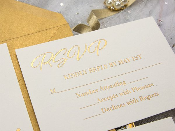 Do You Like Gold Foil Wedding Invitations?