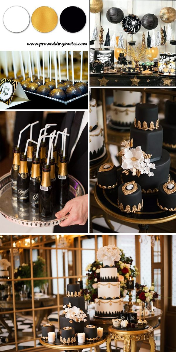 The Best Gold Wedding Colors Combos for 2021: Gold + Black