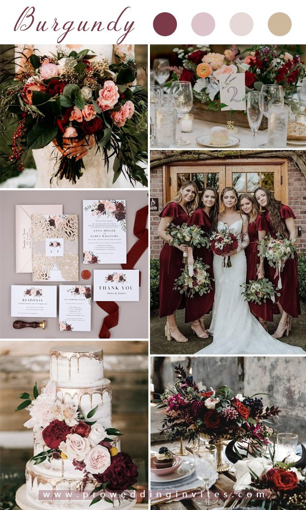 Top 10 Wedding Color Scheme Inspiration Ideas For 2020