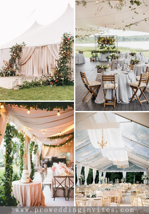Tented Wedding Receptions