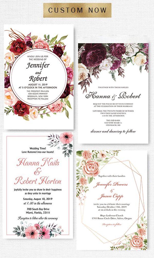 Customize Wedding Invites