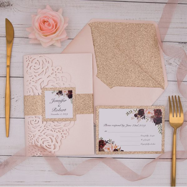 Blush Wedding Invite