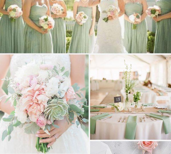 Wedding Color Ideas Summer: 6 Trendy Blush & Greenery Wedding Color Ideas For 2020 Summer