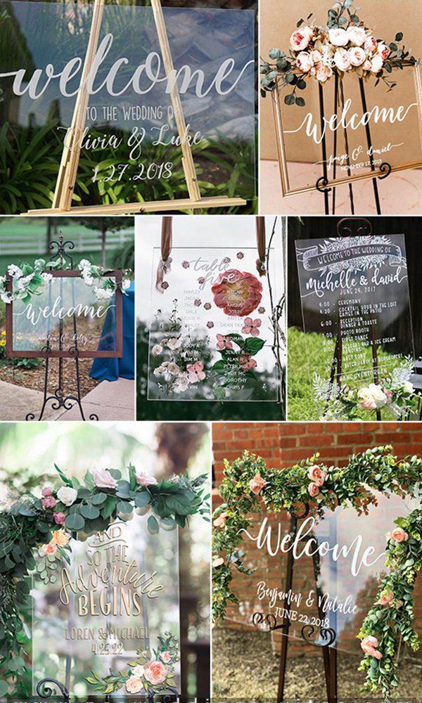20 Fashionable Acrylic & Lucite Wedding Ideas Including Invitations