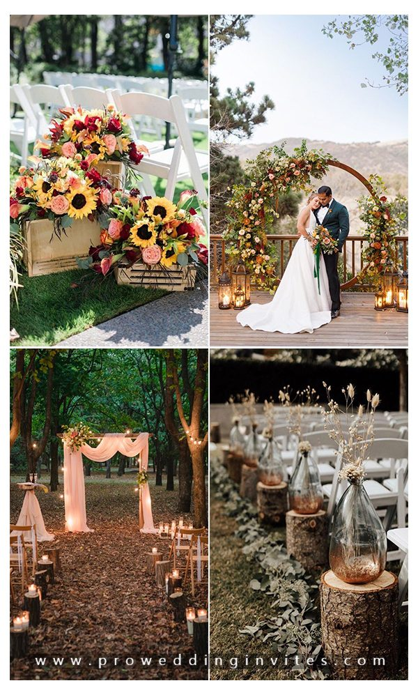 Fall Wedding Ideas without Pumpkins