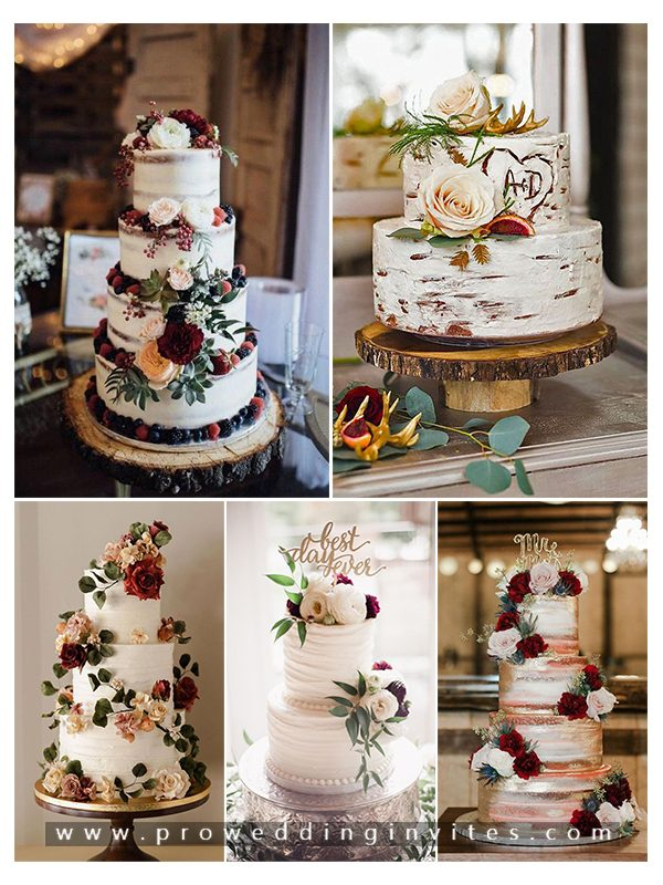 Trendy Flower Wedding Cakes