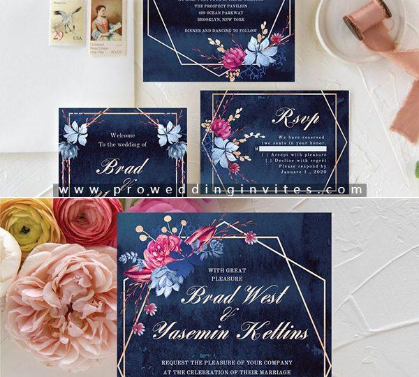 Wedding Hairstyle Trends 2020: 4 Stunning Geometric Modern Wedding Invitation Trends For 2020