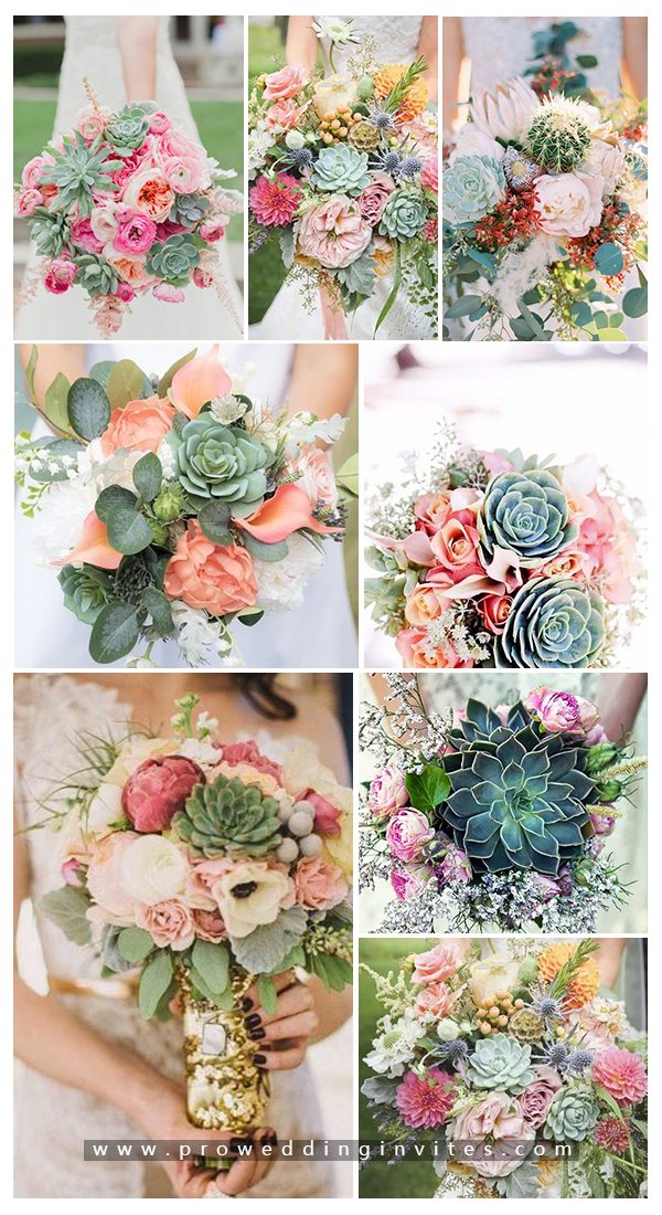 Bridal Bouquets Creative and Unique Succulent Wedding