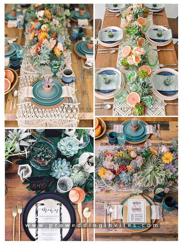 Green Succulent Wedding 10 Creative and Unique Succulent Wedding Ideas in 2021