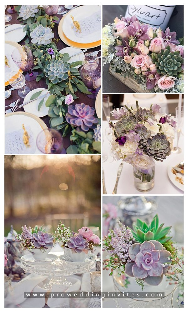 Purple Succulent Wedding 10 Creative and Unique Succulent Wedding Ideas in 2021