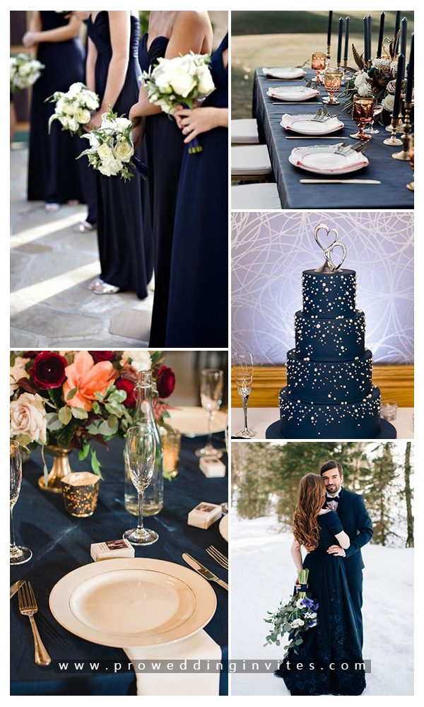 Elegant Navy Wedding Color