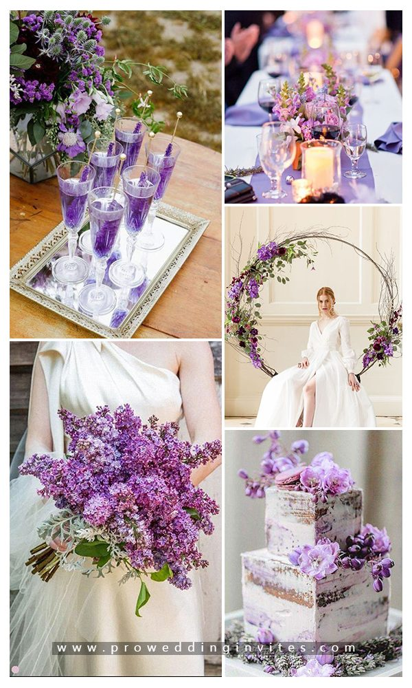 Vibrant Fuchsia & Plum & Purples Fall Wedding Ideas