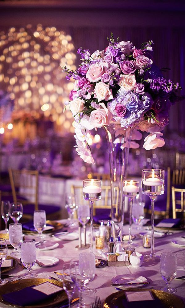Enchanting and Delicate Ultra Violet Wedding Ideas Inspired by Pantone