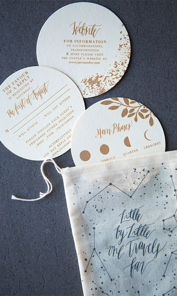 Creative Round Wedding Invitations to Impress You