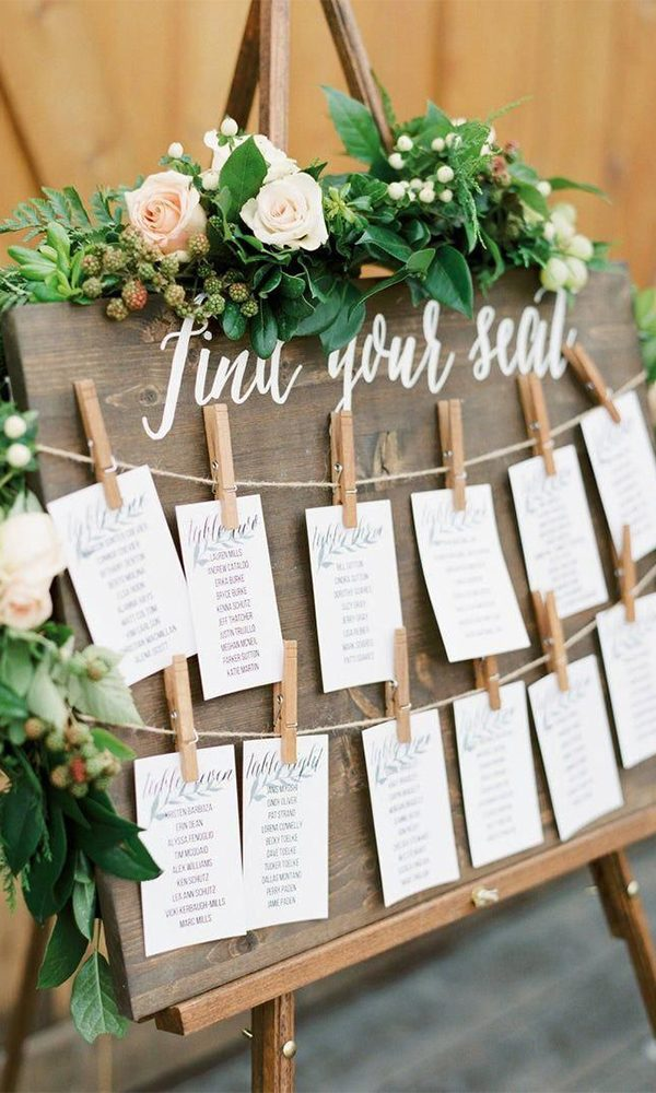 Genius Wedding Seating Chart Ideas to Guide Your Guests