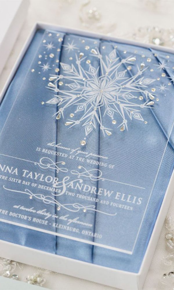 Compelling Wedding Invitations Inspired by Disney's Frozen