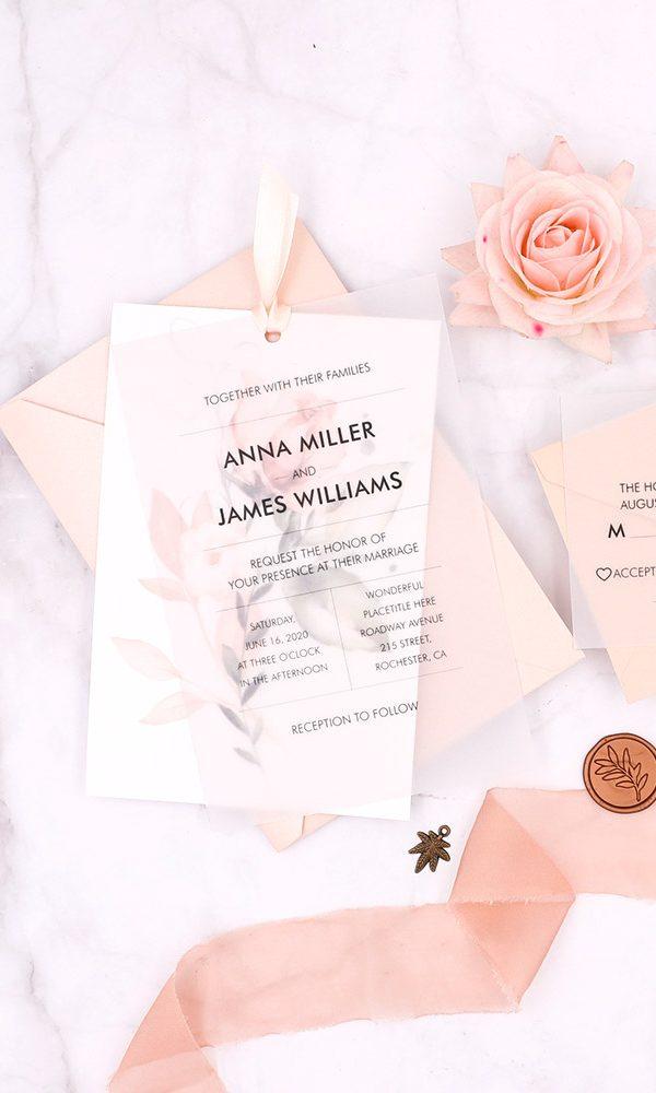 DIY Ideas:Unique UV Printed&Vellum Wedding Invitations