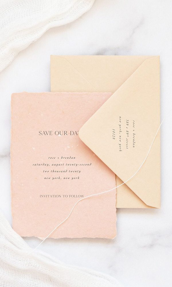 Suggestions on Addressing Save the Date Envelopes