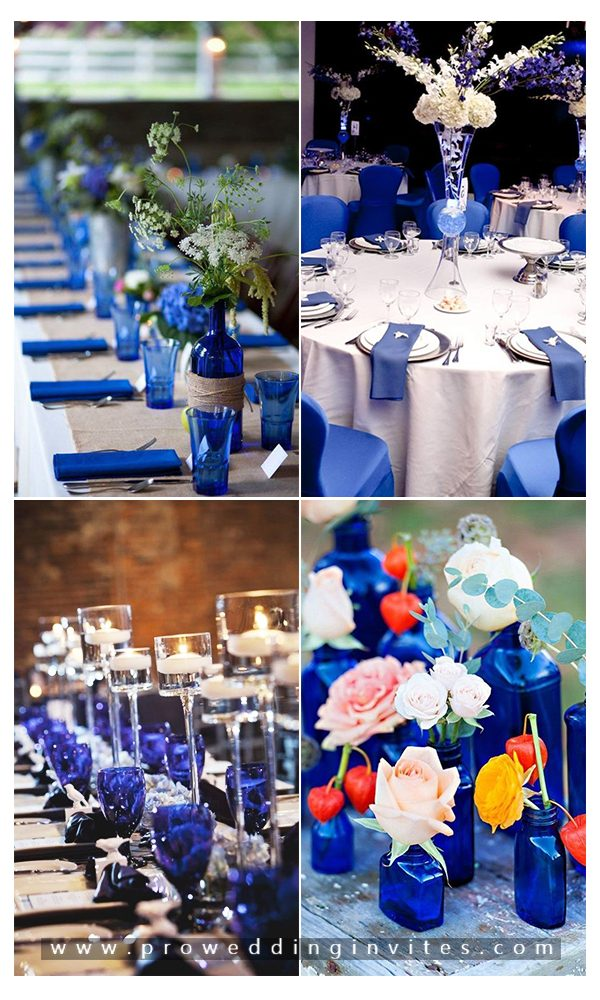 Compelling Royal Blue Wedding Ideas with Matching Invitations