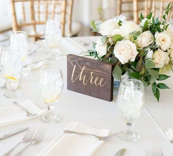 Useful Diy Wedding Table Number Ideas For Crafty Brides