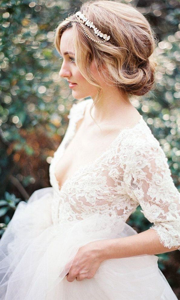 Fantastic Wedding Hairstyles Based On Bridal Dress Styles