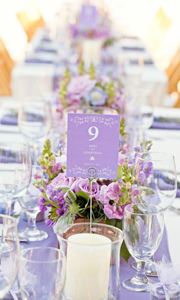 Elegant Wedding Color Combo:Lilac and Silver