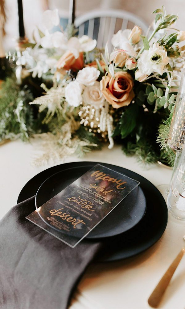 Non-holiday Themed Winter Wedding Ideas in December