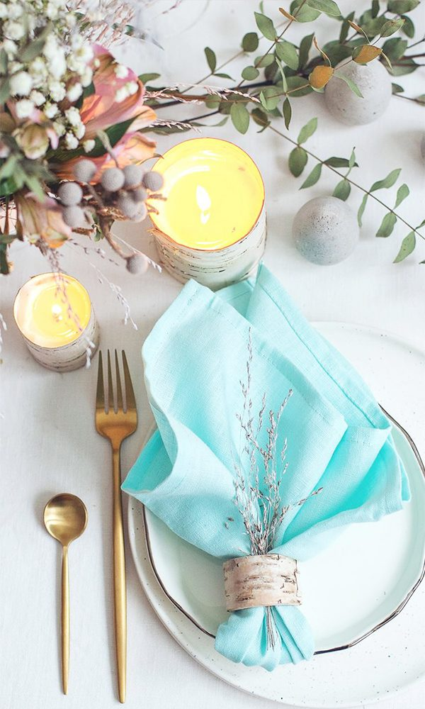 "Napkins add the perfect ""pop"" of color and style to your reception!"