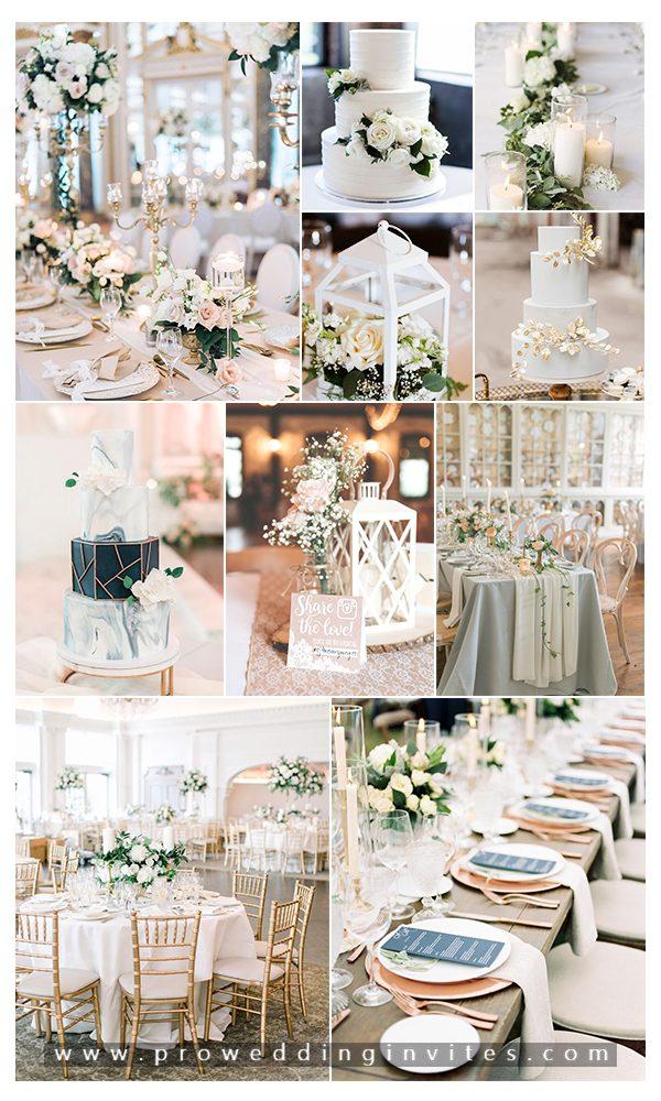 Blush Ivory Chic and Elegant Wedding Decoration Ideas