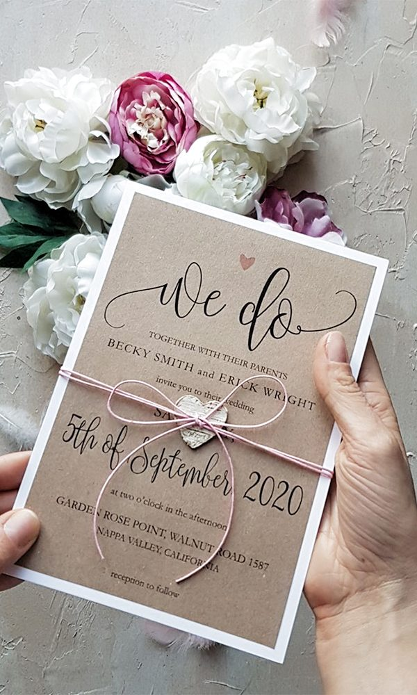 Romantic Heart Wedding Invitations for Lovely Couples