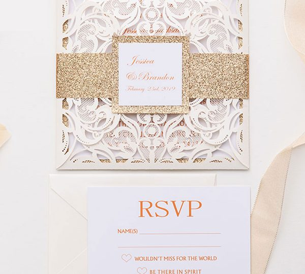 Sparkling Glitter Wedding Invitations That Are Really Chic