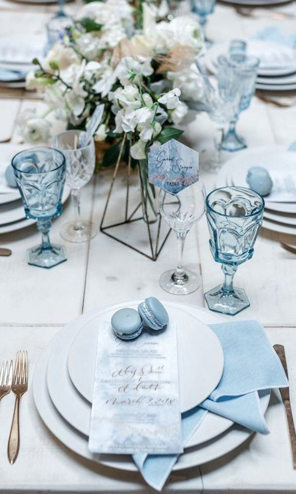 Adorable Shades of Blue Wedding Color Ideas for 2020