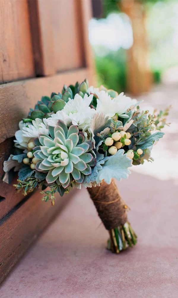 Creative and Unique Succulent Wedding Bouquets Ideas in 2020