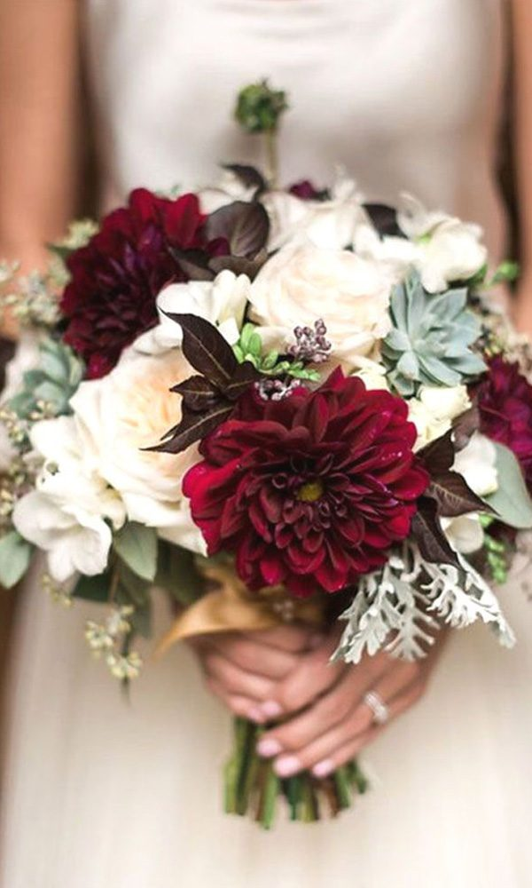 2020 Wedding Color Scheme Trends: Burgundy and White