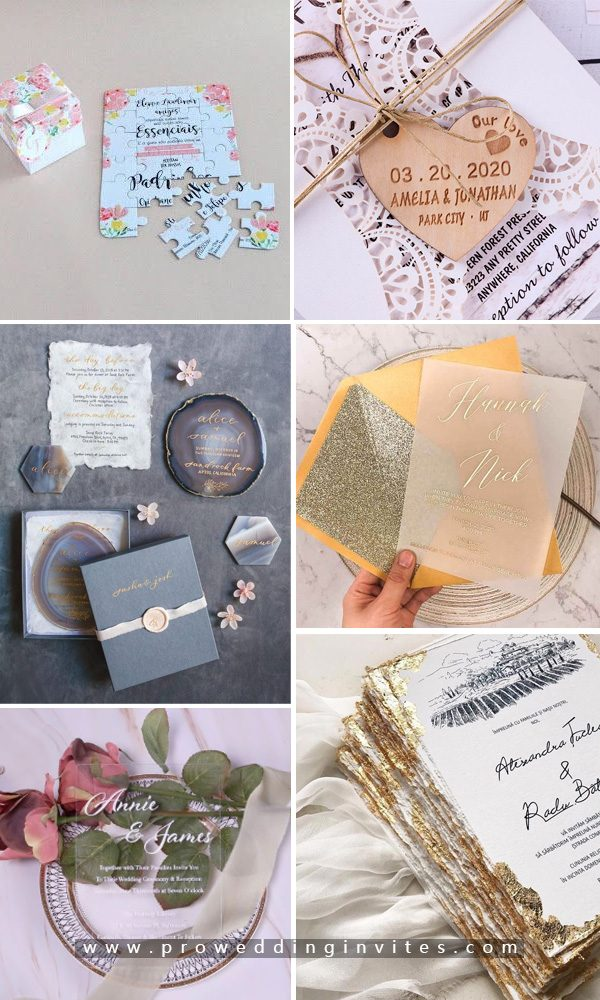Sending UNIQUE wedding invitations to wow your guests