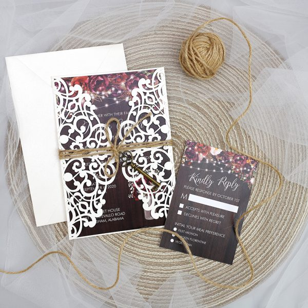 10 Beautiful Elegant Wedding Invitations To Save Your Budget