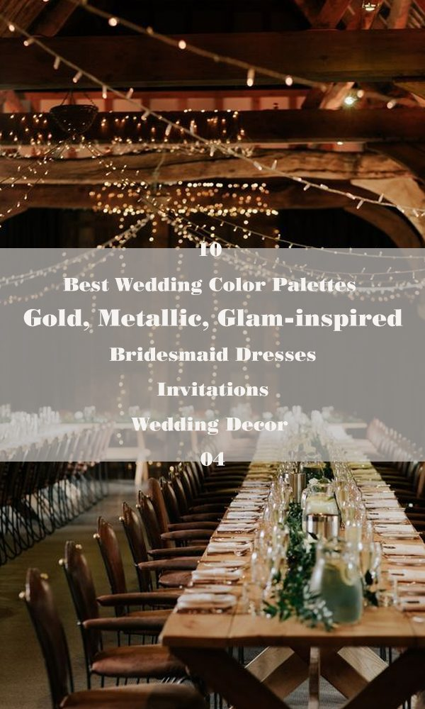 10 Best Wedding Color Palettes: Gold, Metallic, Glam-inspired – 04