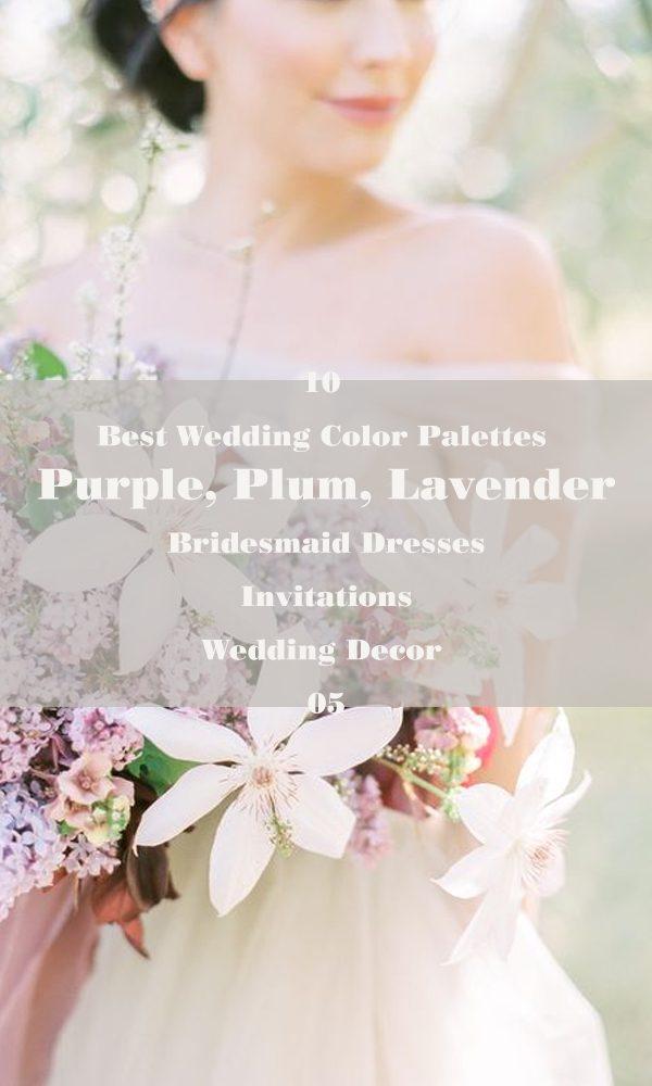 10 Best Wedding Color Palettes: Purple, Plum, Lavender – 05