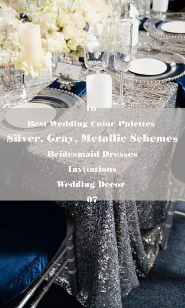 10 Best Wedding Color Palettes: Silver, Gray, Metallic Schemes – 07