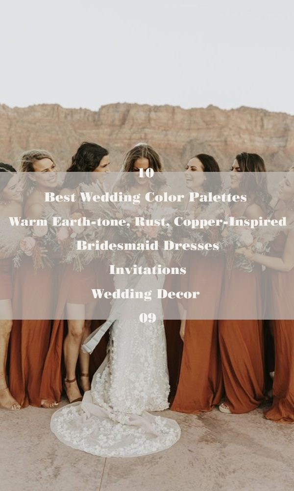 10 Best Wedding Color Palettes: Warm Earth-tone, Rust, Copper-Inspired – 09