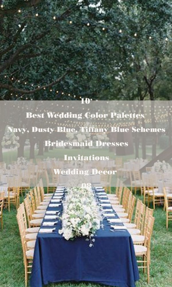 10 Best Wedding Color Palettes:Navy, Dusty Blue, Tiffany Blue Schemes – 08