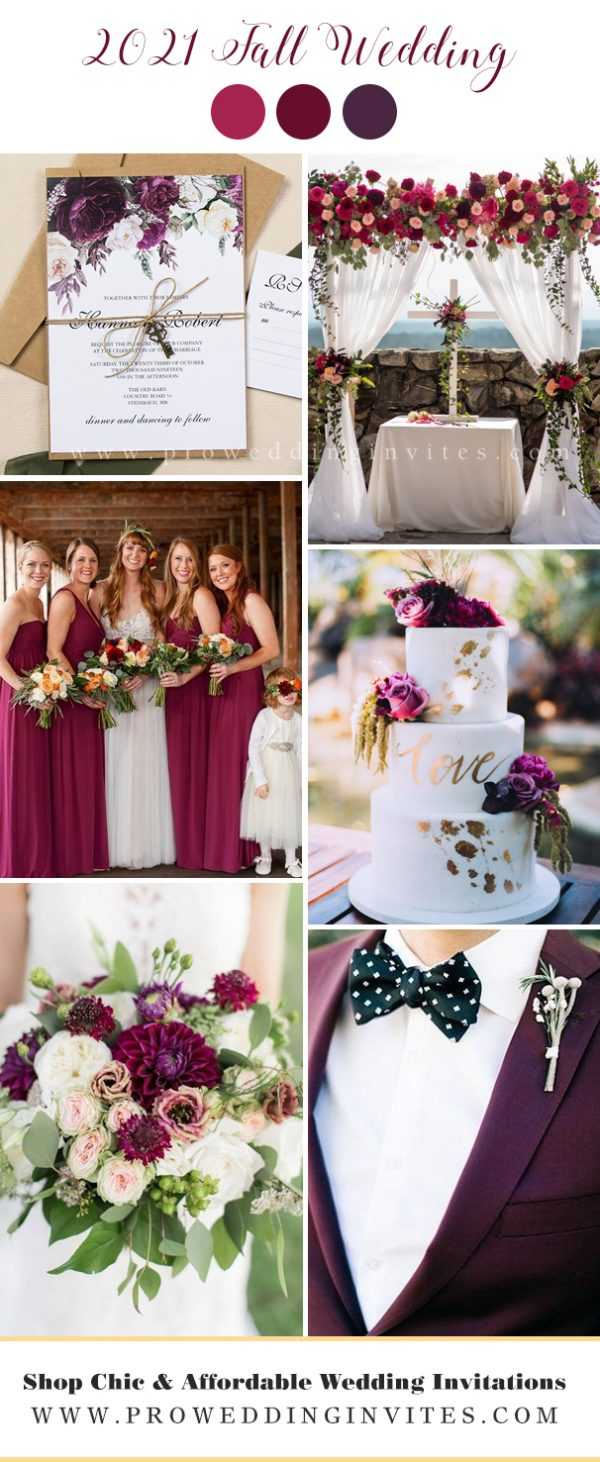 Boysenberry wedding colors
