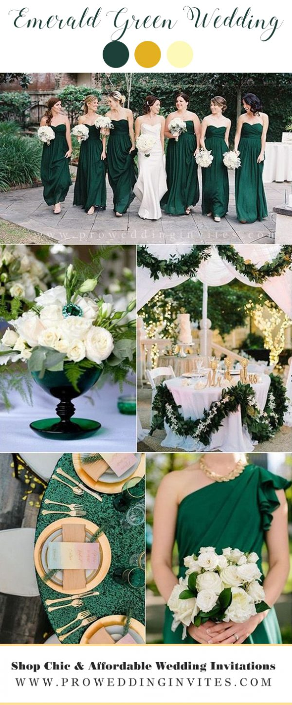 Emerald Green wedding colors